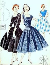 Vintage Pattern For Full Skirted Dresses