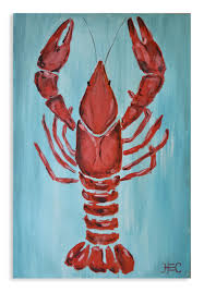 Decorative Wooden Lobster Trap by Kitchen Art Kitchen Decor Lobster Print Shrimp Wall Art Crab