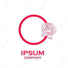 Letter O Logo Rose Flower Red Beauty And Fashion Cosmetics