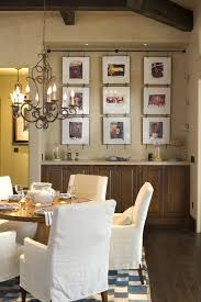 Picture Frame Collage Design Ideas Dining Room Rustic With Wall Art Neutral Colors Wood Flooring