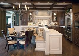 Kitchen Wooden Bench Rounded Banquette Seating Table Storage Dining With Back Upholstered