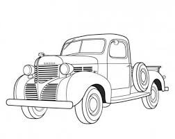 Dodge Pickup 1939 Classic Cars Coloring Pages