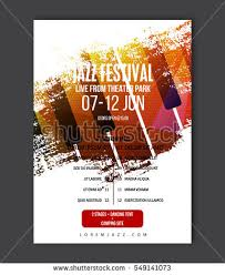 Music Poster Template Vector Jazz Flyer Background With Keyboard Illustration In Paint Brush Style