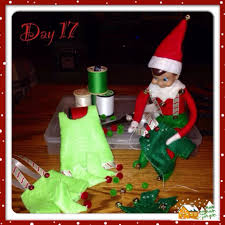 clothes for our elf on the shelf i made them out of felt and