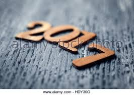 Some Wooden Numbers Forming The Number 2017 As New Year On A Rustic