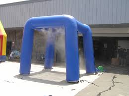 Halloween Inflatable Arch by Inflatable Misting Stations