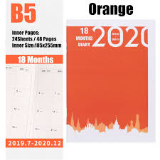 20192020 Weekly Monthly Journal Planner Diary Scheduler Organizer Agenda For Study Business Notebook