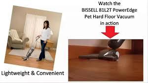 Bissell Hardwood Floor Vacuum by Bissell 81l2t Poweredge Pet Hard Floor Vacuum Review Youtube