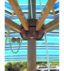 classic 9 foot umbrella galtech wood market umbrella with pulley