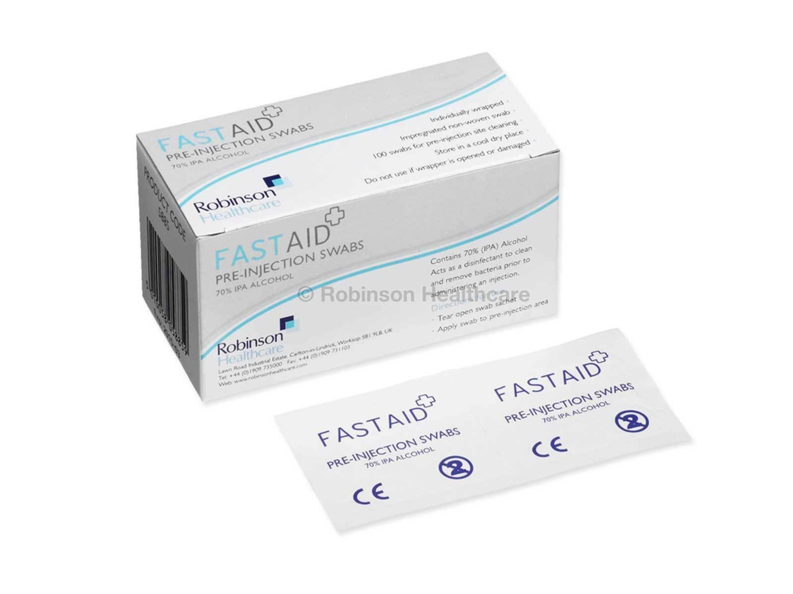 Fast Aid Pre-Injection Swabs - 100 Pack