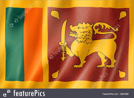 Flags Sri Lanka Flag Three Dimensional Render Satin Texture