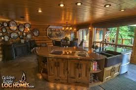log home kitchen islands log cabin dream kitchens and ideas pinterest