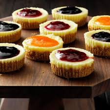 Jam Topped Mini Cheesecakes