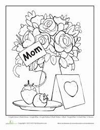 Kindergarten Holidays Seasons Worksheets Mothers Day Color