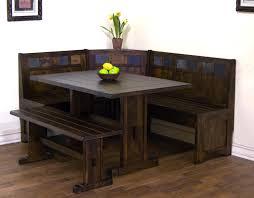 Small Kitchen Table Sets Walmart by Breakfast Nook 3 Piece Corner Dining Set Espresso Walmart Com