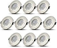 10stk led einbaustrahler ip44 gu10 deckenspots badezimmer einbauleuchte bad einbauspot inkl 5w leuchtmittel naturalweiß 230v