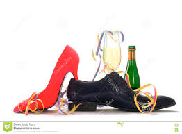 ladies red high heels and black men u0027s shoes with champagne and s