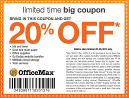ficeMax is offering a printable coupon for $10 off any $50 or