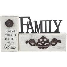Image Is Loading Rustic Style Word Wooden Block Family Plaque Display