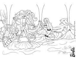 Barbie Mermaid Coloring Pages For Girls