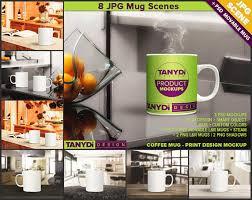coffee mug photoshop styled mockup white mug in kitchen