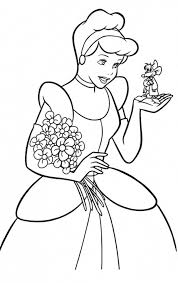 Free Cinderella Coloring Pages For Kids
