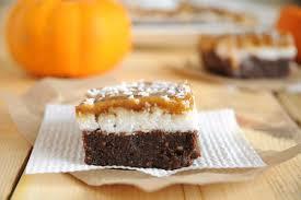 Healthy Chocolate Pumpkin Desserts by Chocolate U0026 Coconut Pumpkin Bars Raw No Bake Vegan Recipes