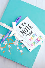 Creative Birthday Gift Idea Grab A Cute Notebook And Add This Printable Tag