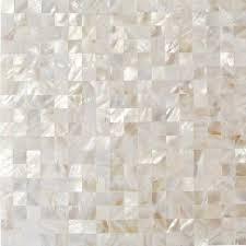 splashback tile of pearl white square pearl shell mosaic