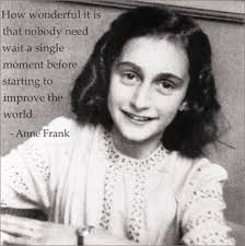 Anne Frank Quote With Image From Facebook