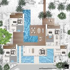 VOMO Island Fiji The Palms Floor Plan Luxury Accommodation Fiji