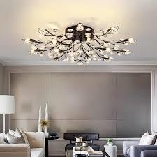 schwarz nordic kronleuchter lichter für wohnzimmer