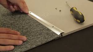 Tiled Carpet by Carpet To Tile Trim Youtube