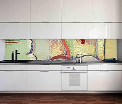 aufkleber küchenrückwand abstrakte modern linien kreise