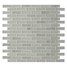 gbi tile inc gemstone white glass mosaic subway wall tile