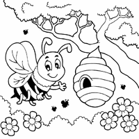 Full Size Of Coloring Pagehoney Page Bee Simple Pages Large Thumbnail