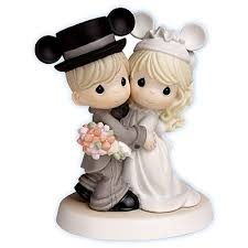 Precious Moments R Magically Ever After Disney Wedding Cake Topper Figurine