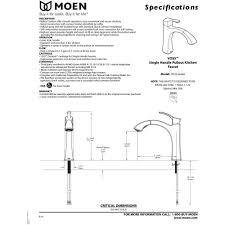 Moen Voss Faucet Specs by Moen 9125c Voss Chrome Pullout Spray Kitchen Faucets Efaucets Com