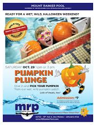 Seattle Pumpkin Patch For Adults by Don U0027t Miss The U0027pumpkin Plunge U0027 At Mt Rainier Pool This Saturday