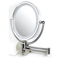 lighted makeup wall mirror amusing lighted magnifying mirror wall