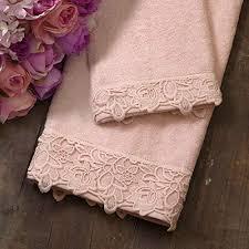 glshabby handtuch set handtuch und gästetuchaus aus baumwolle frotteehandtuchen handtuchen mit spitzenbordüre landhaus shabby chic spitze