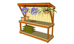 outdoor potting bench diy bench decoration