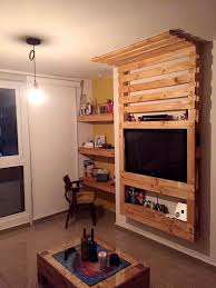Custom Wooden Pallet Media Wall