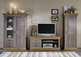 massivholz wohnzimmerschrank 2farbig grau gelaugt geölt kiefer vitrine