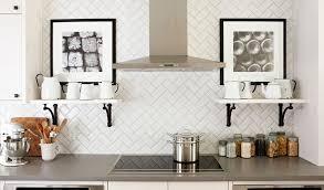 Kitchen Backsplashes Dazzle With Their Herringbone Designs