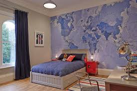 Boys Dinosaur Bedroom With Themed Wall Decals Kids Contemporary And