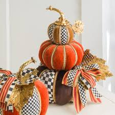 Mackenzie Childs Painted Pumpkins by Tabulous Design Mackenzie Childs Fall 2016