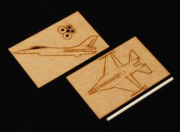 f 16 practice stick plane laser cut wood model kit l toy