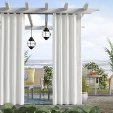 Sunbrella Curtains With Grommets by Outdoor Curtains You U0027ll Love Wayfair
