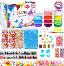 Cuteshower Diy Slime Kit For Kids 12 Clear Slime4 Packs Colorful Foam Balls1 Pack Fruit Slices1Pack Fishbowl Beads52 Glitter4 Unicornwith DIY